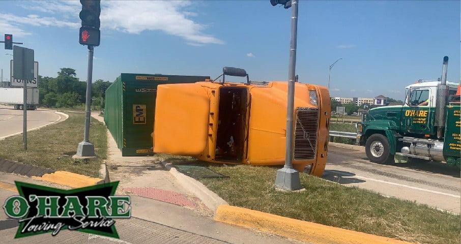 semi truck recovery